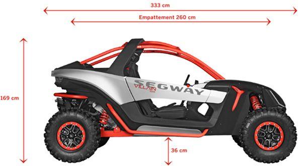 Segway - Villain SX10 E -  Dimensions